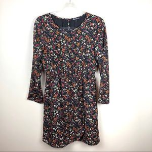 J. Crew Printed Tulip Hem Dress 4 Floral Autumn